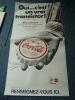AFFICHE PUBLICITAIRE COCA COLA (TRANSISTOR) - Posters