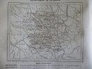 Carte Géographique , Département De La Creuse , Avec Légende , Gravure De Geisendorfer 1893 - Documents Historiques