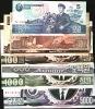 KOREA NORTH  P40-46  5  & 10 W 1998,50 & 100 W.1992,500 W 1998,1000  & 5000 W 2002 Set Of 7 UNC. - Corea Del Norte
