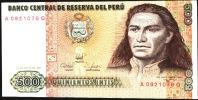 PERU        P134b  500  INTIS    1987    UNC. - Pérou