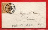 FRANCE N°21 SUR LETTRE DE 1862 AVEC PETIT CACHET A DATE DE CASTILLON SUR DORDOGNE POUR LIBOURNE - 1849-1876: Classic Period