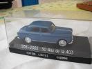 PEUGEOT 403 Berline Bleue Edition Limitée 50 Ans De La 403 1955- 2005 Dans Boite D´origine - Solido