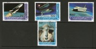 COMORES 1981 ESPACE-NAVETTE YVERT N°341/44  OBLITERE - Space