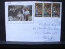 LetDoc. 414. COB 3 X N°254 Sur  Enveloppe.  Andorra - 1931-Aujourd'hui: II. République - ....Juan Carlos I