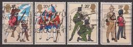 Soldats De L'armée Britannique - 1983 - GRANDE BRETAGNE - Royal Scots, Fusiliers, The Royal Green Jackets, Irish Guards - 1952-.... (Elizabeth II)