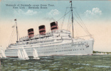 Bateau Paquebot - Ocean Liner - SS Monarch Of Bermuda - Circulée Vers 1938 - État TB - 2 Scans - Steamers