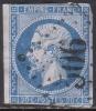 France N° 14B Obl. Oblitération Losange GC Cote : 10.00 € - 1853-1860 Napoléon III