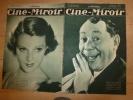 31 Mars 1933 Ciné-Miroir N°417 (Cinéma)  Bach  ( L'ENFANT DE MA SOEUR ) ; Annabella ( MADEMOISELLE JOSETTE MA FEMME) - Libri, Riviste, Fumetti