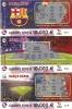 COLECCION COMPLETA DE 3 NÚMEROS DE LOTERIA SOBRE EL FUTBOL CLUB BARCELONA (LOTO) (BARÇA) - Billetes De Lotería