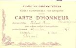 GAND  Marché Du Vendredi     Dos Carte D´honneur Commune D´HENNUYERES - Braine-le-Comte