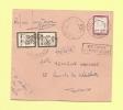 0.25 Decaris - Cours D'instruction De Dijon - Taxe Toulouse - Refusee Pour Taxe  - Sur Support Carton Toulouse Cours - 1960 Marianna Di Decaris