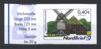 "Deutschland Nordbrief ""Windmühle Molfsee"" / Germany ""Molfsee Windmill"", ** / MNH, 2012 - Mulini"