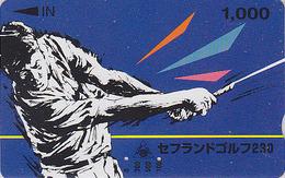 Carte Prépayée Japon - Sport - SAFE LAND GOLF Golfeur / 1000 - Japan Sports Prepaid Member´s Card - 439 - Deportes