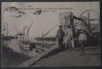 CPA 83 HYERES LES VIEUX SALINS LE CANAL DU PORT POTHUAU Voyagee 1906 - Hyeres