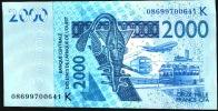 WAS  SENEGAL  P716Kf   2000 FRANCS   2008    UNC. - Sénégal