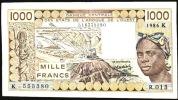WAS SENEGAL   P707Kg   1000 FRANCS    1986     VF   NO P.h. ! - Sénégal