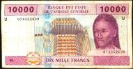 CAS CAMEROUN P210U   10.000  FRANCS   2002    AVF  NO P.h. ! - Cameroun