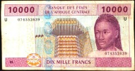 CAS CAMEROUN P210U   10.000  FRANCS   2002    AVF  NO P.h. ! - Cameroon