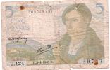 Billets De Banque/France / Banque De France/5 Francs/1945             BIL65 - 1871-1952 Circulated During XXth