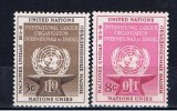 UNY+ UNO New York 1954 Mi 29-30 Mnh - New York - Sede De La Organización De Las NU