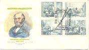 PINTORES ARGENTINOS PRILIDIANO PUEYRREDON (1823-1870) FDC AÑO 1966 BUENOS AIRES REPUBLICA ARGENTINA - Art