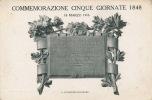 ITALIE - COMMEMORAZIONE CINQUE GIORNATE 1848 - Ohne Zuordnung