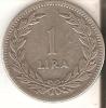 MONEDA DE PLATA DE TURQUIA  DE 1 LIRA DEL AÑO 1947  (COIN) SILVER-ARGENT - Turquia
