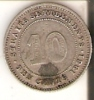 MONEDA DE PLATA DE STRAITS SETTLEMENTS DE 10 CENTS DEL AÑO 1881 (RARA) (COIN) SILVER-ARGENT - Colonias