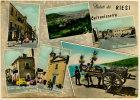 RIESI (CL) SALUTI VEDUTINE 1959 - Caltanissetta