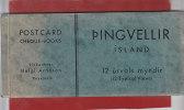 ISLANDE - PINGVELLIR - Carnet complet de 12 cartes - (12 Urvals Mindyr)