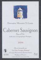 THEME DIVERS étiquette De Vin CABERNET SAUVIGNON / DOMAINE MEUNIER SAINT LOUIS - Windmills