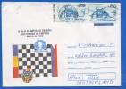 Rumänien; Schach Chess; Brief Manila 1992; Inflamarken - Schach