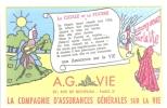 Buvard  La Cigale Et La Fourmi AG VIE  87 Rue De Richelieu Paris 2ème Assurance Vie - Banque & Assurance