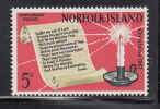 Norfolk Island MNH Scott #115 5c John Adams' Prayer - Christmas - Ile Norfolk