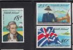 Norfolk Island MNH Scott #222-#224 Bicentenary Of Arrival Of Captain Cook - Ile Norfolk