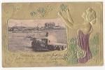 [W20085] Uruguay Tarjeta Postal  Montevideo Ca1900 Art Nouveau VINTAGE  POSTCARD Steamer Festivity - Uruguay