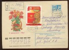 MAIL POST Used Cover Stationery USSR RUSSIA Virgin Soil Kazakhstan Agricultural Order Komsomol Book Leningad - Covers & Documents