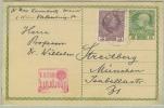 """Censure De Vienne """"überprüft Wien Pour Munich Sur Entier Postal (p216 Et Timbre 103) - Covers & Documents"""