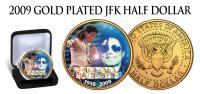 "USA - 2009 - MICHAEL JACKSON ""KING OF POP"" GOLD PLATED HALF DOLLAR - UNC - United States"