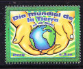 RT)PERU 2009, INTL .DAY OF THE EARTH,EMBLEM WITH HANDS, MAPS AND GLOBE,MNH - Peru