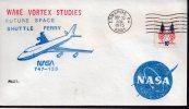 ★ US - FUTURE SPACE SHUTTLE FERRY - WAKE VORTEX STUDIES (6751) - FDC & Commemoratives