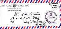 LSI 2042 ONU Force Intérimaire Au Liban Issy Les Moulineaux Tel!! - Lettres & Documents