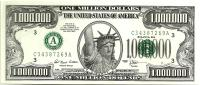 USA $1.000.000 FUNNY MONEY STATUE OF LIBERTY FRONT 4 PRESIDENTS HEADS BACK SERIES 1996 READ DESCRIPTION CAREFULLY !! - Estados Unidos