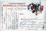 CARTE POSTALE FRANCHISE MILITAIRE  CORRESPONDANCE MILITAIRE - Oorlog 1914-18