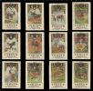 Old Original Swiss Poster Stamp(cinderella,reklamemarke)Tobler Chocolate, Game, Deer, Moose, Wild, Hirsche, Elche, Reh - Game
