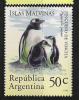 P698.-.ARGENTINA .-. 1994 .-. MI # :  2214-15  .-. MNH .-.  FAUNA .-.  PINGUINO / PATO - Penguins