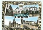 B - 56 - LOCMINE - Rue Du Pont - La Mairie - L'église Et La Place - édition Du Moulin - Blason Héraldiste Robert LOUIS - Locmine