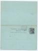 Diego Suarez  Carte Postale Reponse NGK Type Nr P 2 ,  1892  Cancelled Diego Suarez/Madacascar (4) - Diego-suarez (1890-1898)