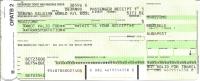 Ticket d�avion (passenger receipt) - Sabena Belgian World A/L - Brussels-Budapest - SN273 - 06JAN1999