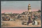 - CPA DJIBOUTI - Souvenir De Djibouti - Mosquée Et Marché Aux Bois - Gibuti